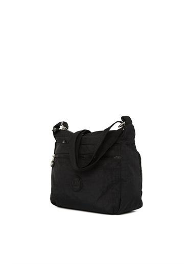 Bagmori Kadın Fermuarlı Cepli Fermuarlı Paraşüt Çanta M000005106 Siyah